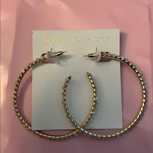 Kendra Scott, Val Style, Hoop Earrings, Gold, NWOT